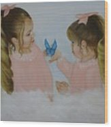 Angels With Wings Wood Print