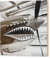 Anger Management Bw Palm Springs Air Museum Wood Print