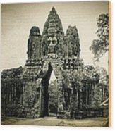 Angkor Thom Southern Gate Wood Print