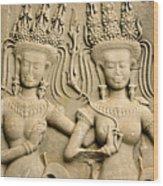 Angkor Wat Relief Wood Print