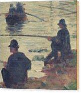 Anglers Wood Print