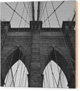 Angles of Brooklyn Wood Print