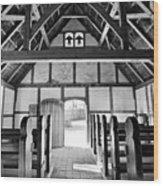 Anglican Church At James Fort Interior Wood Print