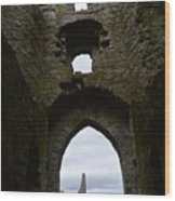 Anglo - Norman Castle. Wood Print