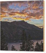 Angora Ridge Sunset 9 Wood Print