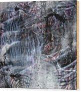 Angry Alien Wood Print