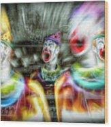 Angry Clowns Wood Print