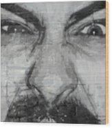Angry Man Wood Print
