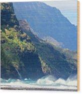 Angry Sea, Na Pali Coast Wood Print