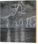 Angry Skies Wood Print