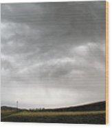 Angry Sky - Montana Wood Print