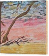 Angry Sky Wood Print