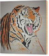Angry Tiger Wood Print