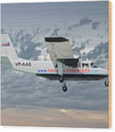 Anguilla Air Services Britten-norman Bn-2a-26 Islander 113 Wood Print