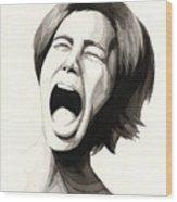 Anguish #3 Wood Print