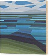 Angular Lake Wood Print
