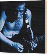 Angus Rocks The Blues Wood Print