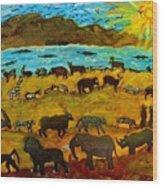 Animal Exodus Wood Print