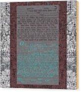 Animal  Ketubah- Reformed And Interfaith Version Wood Print