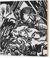 Animal Legend 1912 Wood Print