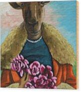 animal portrait - Flora Shepard Wood Print