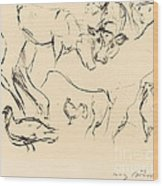 Animal Studies (verschiedene Tierstudien) Wood Print