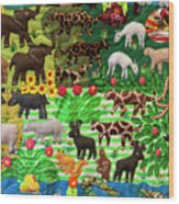 Animal Tapestry Wood Print
