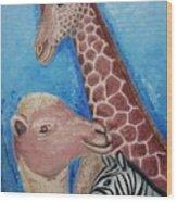 Animals Ladies Wood Print