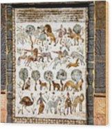 Animals Past And Present Wood Print