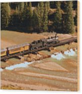 Animas River Crossing Wood Print