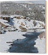 Animas River In January Wood Print