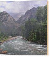 Animas River Morning Wood Print