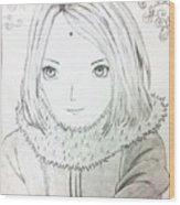 Anime Drawing  Wood Print