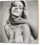 Anita Ekberg, Hollywood Legend By John Springfield Wood Print