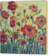 Anitas Poppies Wood Print by Jennifer Lommers