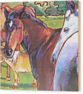 Anjelica Huston's Horses Wood Print
