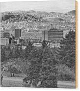 Ankara - Bw Wood Print