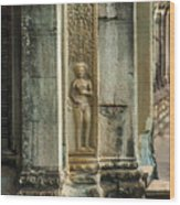 Ankgor Wat  Apsaras Wood Print