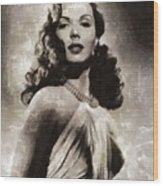 Ann Miller, Vintage Actress Wood Print