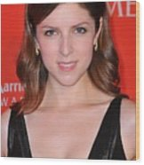 Anna Kendrick At Arrivals For Time 100 Wood Print by Everett
