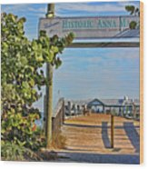 Anna Maria City Pier Landmark Wood Print