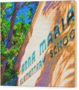 Anna Maria Elementary School Sign C131272 Wood Print