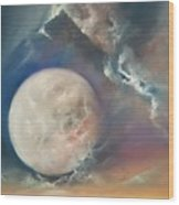 Anna Maria Moonset Wood Print