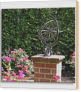 Annapolis Garden Ornament Wood Print