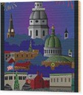 Annapolis Holiday Wood Print
