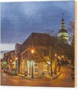 Annapolis Main Street Wood Print
