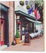 Annapolis Md - Restaurant On State Circle Wood Print