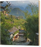 Annapurna Village Wood Print