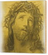 Anne Anastasi Christ Pencil Wood Print