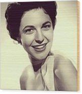 Anne Bancroft, Vintage Actress Wood Print